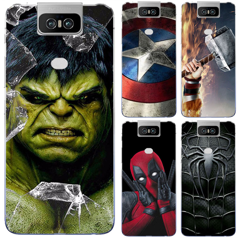 Superhero Phone Case Cover For <font><b>Asus</b></font> <font><b>Zenfone</b></font> <font><b>6</b></font> <font><b>ZS630KL</b></font> ZS 630KL I01WD <font><b>2019</b></font> Superman Back Cover For <font><b>Asus</b></font> <font><b>Zenfone</b></font> <font><b>6</b></font> <font><b>2019</b></font> <font><b>ZS630KL</b></font> image