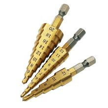 Hss titanium step drill bit 4 12/3 12/4 20 mm hexagon shank