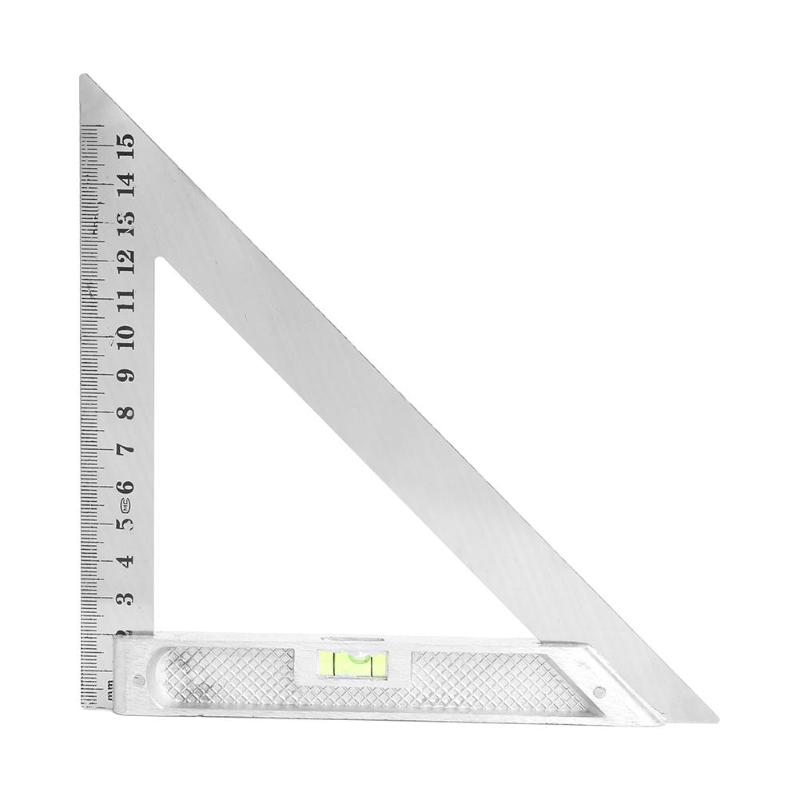 Measurement Tool Triangle Square Ruler Aluminum Alloy Speed Protractor Miter For Carpenter Tri-square Line Scriber Saw Guide