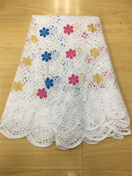 New Red/Gold/Blue African Dry Lace Fabrics High Quality Hollow Out Lace Fabric Pure White Stones Swiss Voile Lace In Switzerland