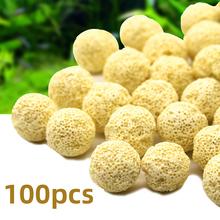 100 50 20 sztuk filtr do akwarium Bio Media pierścienie ceramiczne Bio Ball węgiel aktywny Bio czysta woda zewnętrzne narzędzia do czyszczenia tanie tanio CN (pochodzenie) Other fish Brak