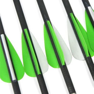 "Image 2 - 6/12pcs 31.5"" Archery Pure Carbon Arrow Spine 600 ID4.2mm 2inch Rubber Feather Compound Recurve Hunting Shooting Accessories"