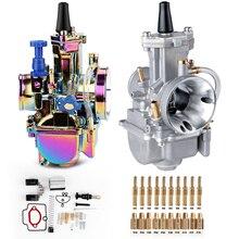 Carburador da motocicleta profissional kits de reparo acessórios alumínio universal para a motocicleta pwk 28 30 32 34 36 38 40mm