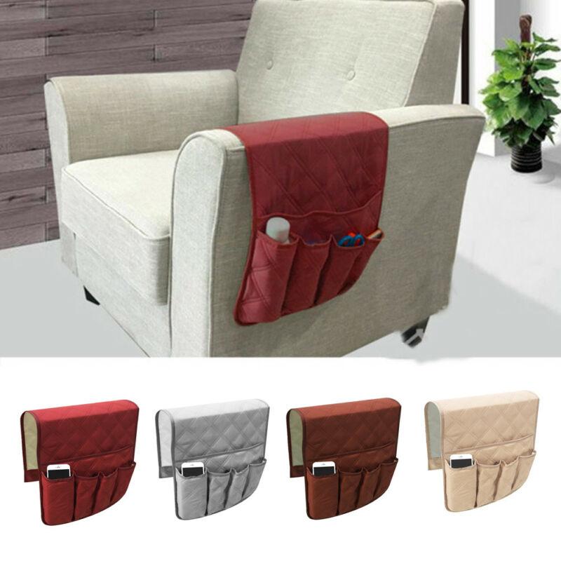 Sofa Organizer 5 Pocket Couch Arm Rest Remote Control Storage Holder Chair Pure