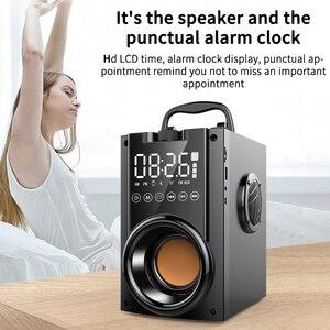 Image 4 - Sans fil Bluetooth haut parleur 2200mAh grande puissance Subwoofer Portable lourd basse stéréo haut parleurs lecteur de musique LCD affichage FM Radio TF
