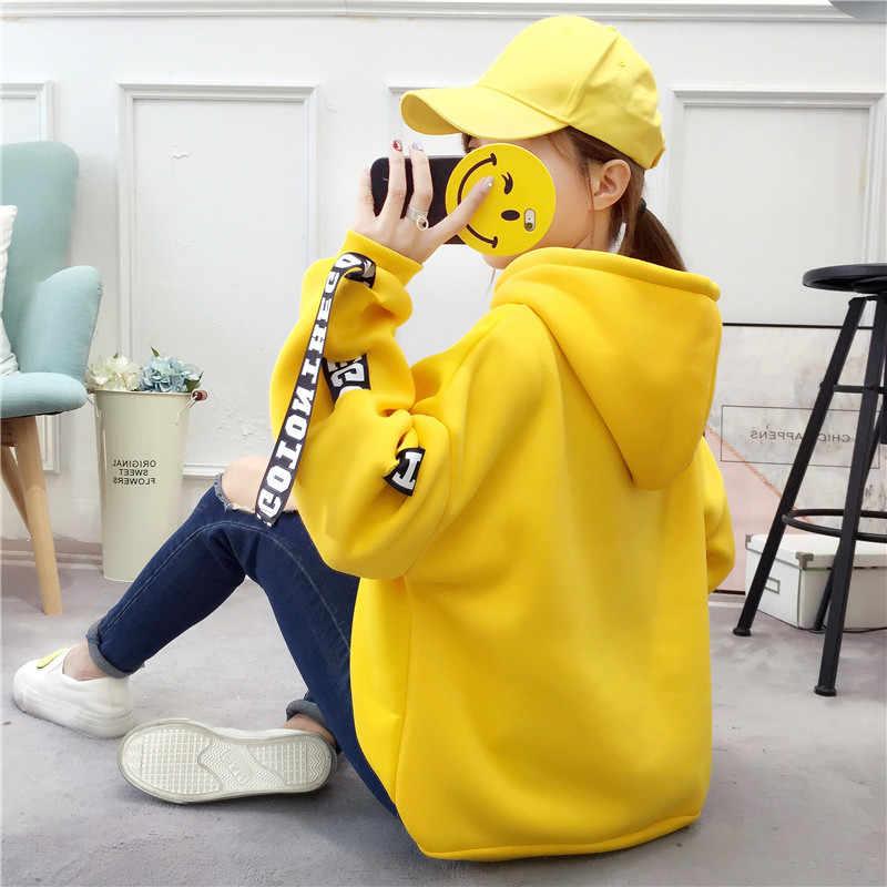 Kpop קוריאני bangtan kpop נים עבור בנות streetwear צהוב הסווטשרט נשים אישה חולצות בתוספת גודל לבן אדום סתיו 2019 womans