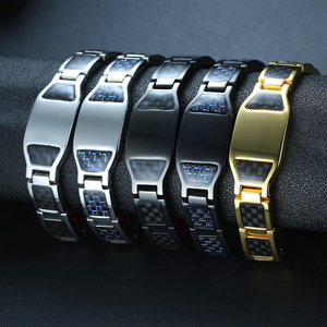 Image 5 - CARBON FIBER BRACELET FOR MEN BIO STAINLESS STEE PERSONALIZED CUSTOM BRACELETS ASSORTED STYLE GIFT FOR DAD HASBAND