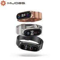 Mi Band 6 Strap für Xiaomi Mi Band 5 Armband auf Mi Band 4 Metall Armbänder Miband 3 Pulseira Correa NFC Globale Version