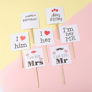 Novelty Love Confession Square Cake Topper Cake Decorations Birthday Wedding Party Supplies image