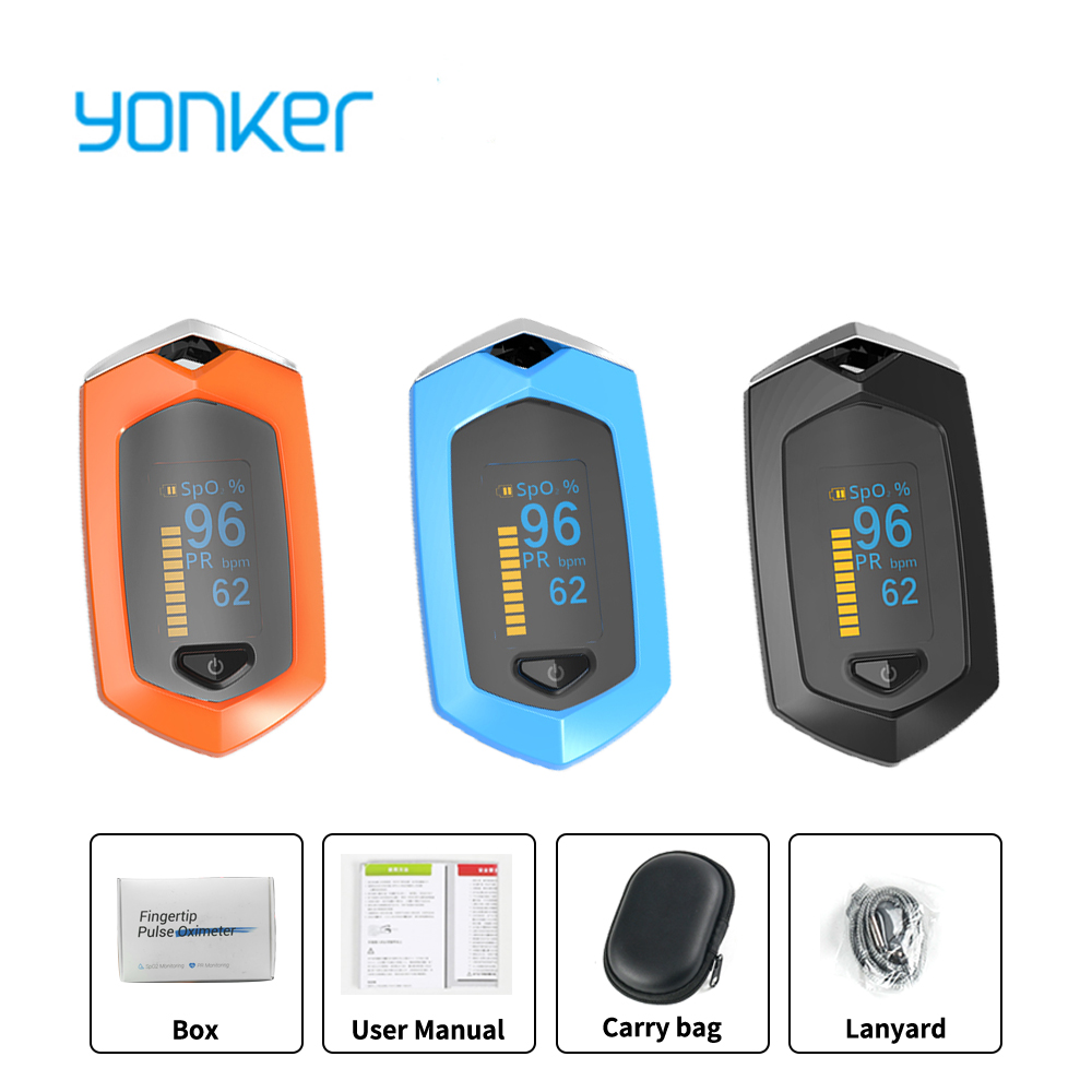 Yonker Medical Family Sports Finger Pulse Oximeter Blood Oxygen Saturation SPO2 Rechargeable Pediatric Pulse Oximeter Outdoor