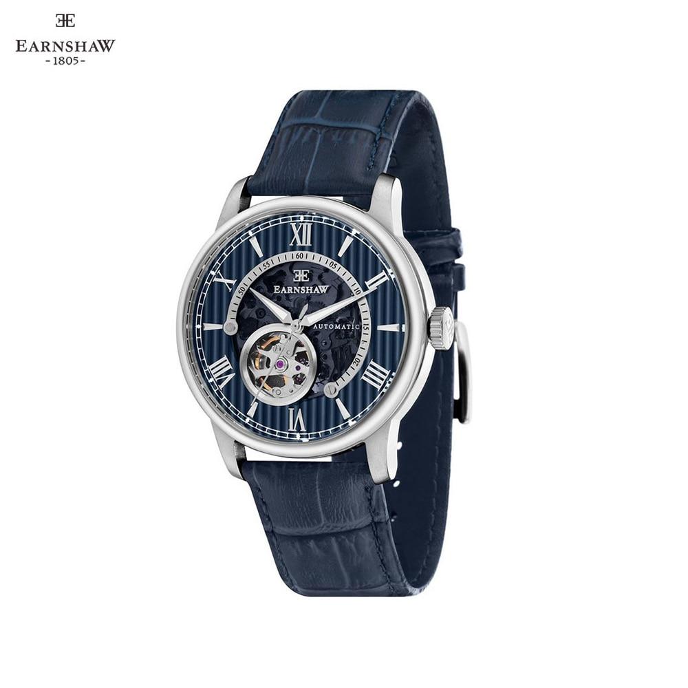 Наручные часы Earnshaw ES 8802 02 мужские механические с автоподзаводом на кожаном ремешке Механические часы    АлиЭкспресс
