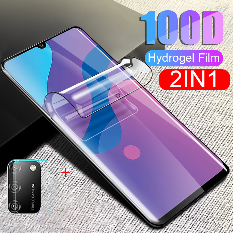 2-in-1 Hydrogel Film For Huawei Honor 9A 9C Camera Lens Screen Protector Protective Film On Honor 9 A 9 C Hono 9A 9C Glass Film