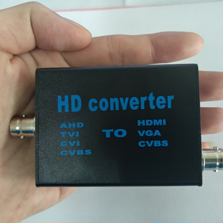 Video Signal Converter Tool AHD/TVI/CVI/CVBS Signal To HDMI/VGA/CVBS Signal Converter For CCTV Safety