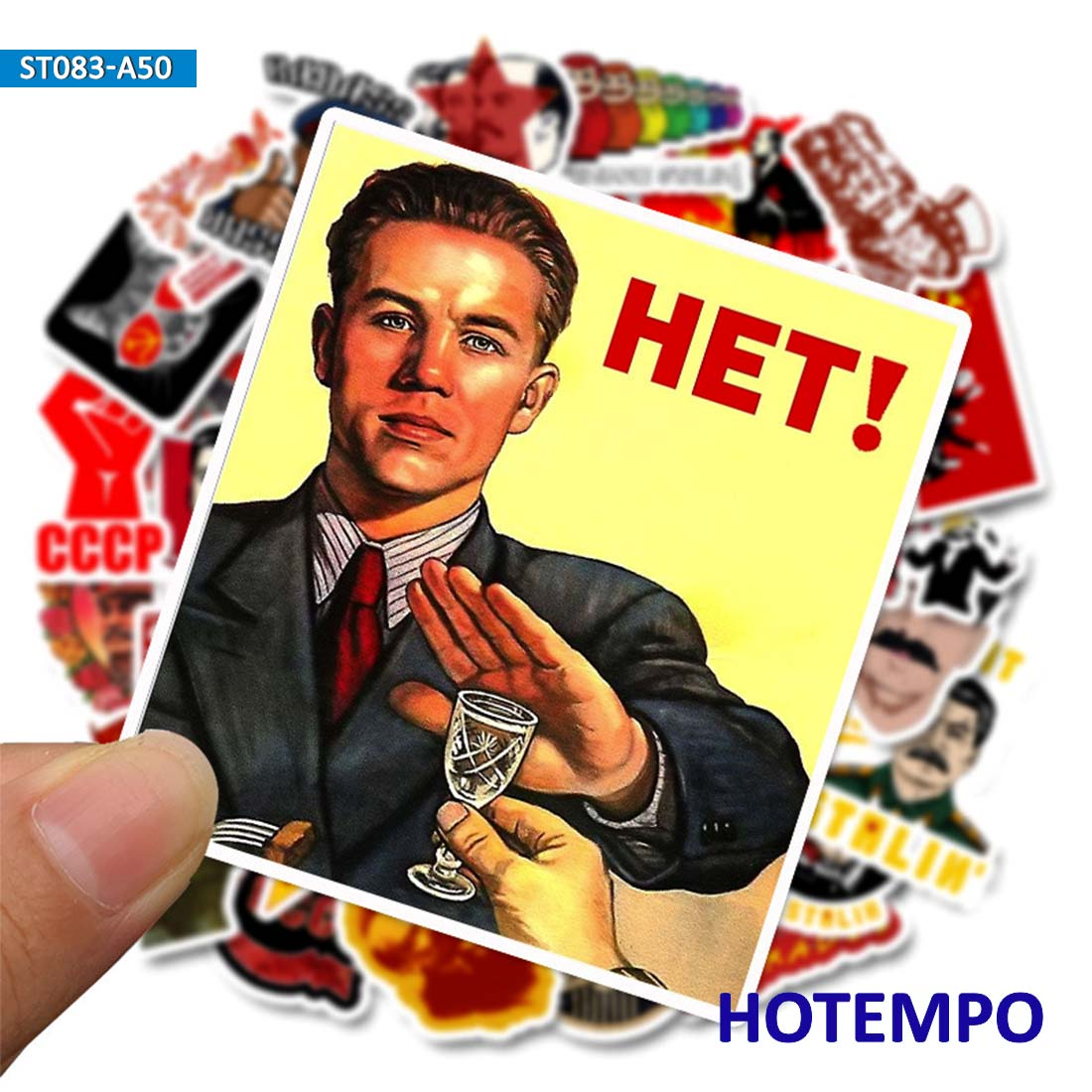 50pcs Stalin USSR CCCP Stickers For Mobile Phone Laptop Luggage Guitar Case Skateboard Snowboard Fixed Gear Bike  Decal Stickers