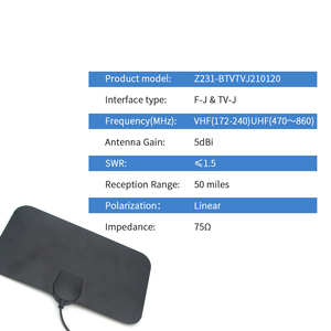 Image 2 - Digital TV Antenna Indoor HDTV Antena DTV Amplificatore Del Segnale Del Ripetitore 1080P TV Satellitare Antenna 50 miglia Z231 BTVTVJ210120
