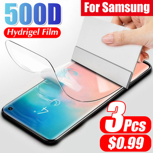 Full Curved Screen Hydrogel Film On The For Samsung S10 Lite E S8 S9 S10 PLus Protective Soft Film For Samsung Note 8 9 No Glass(China)