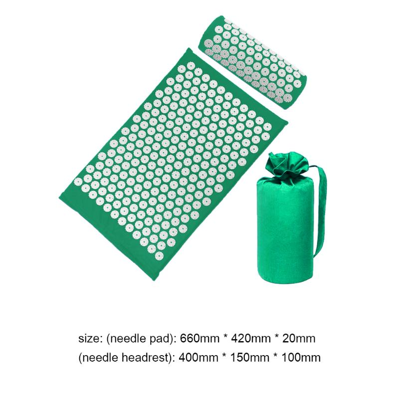 Acupressure Massage Mat with Pillow set to body Relaxation to Release Stress and Tension 34