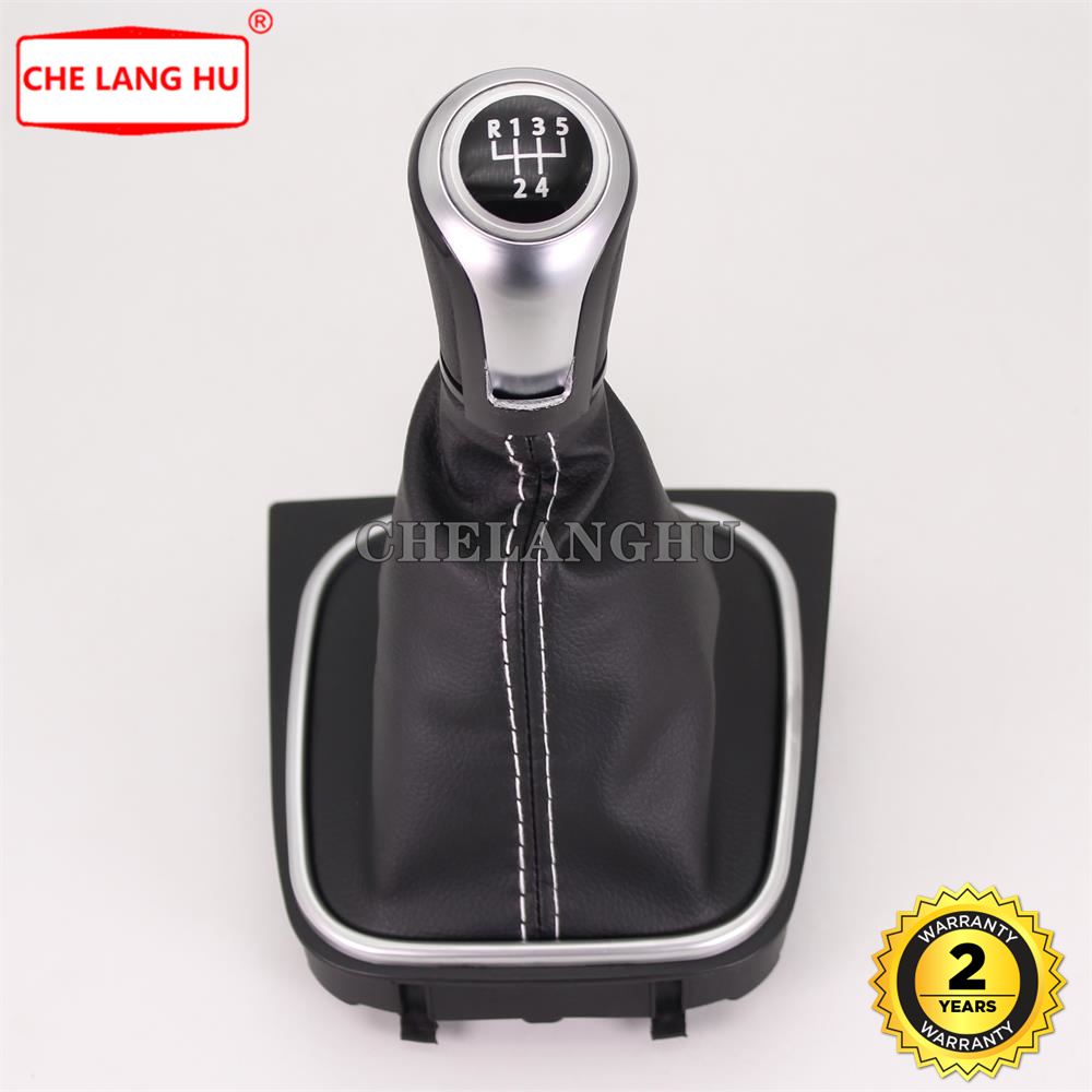 For volkswagen VW Golf <font><b>5</b></font> A5 MK5 GTI GTD R32 <font><b>2004</b></font> 2005 2006 2007 2008 Car-styling car <font><b>5</b></font> speed Gear shift knob pu leather Boot image