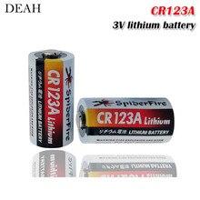 2 шт. литиевая батарея CR123 CR 123A CR17345 16340 cr123a 3v Non-аккумуляторные батареи для Камера газовый счетчик сухая батарея