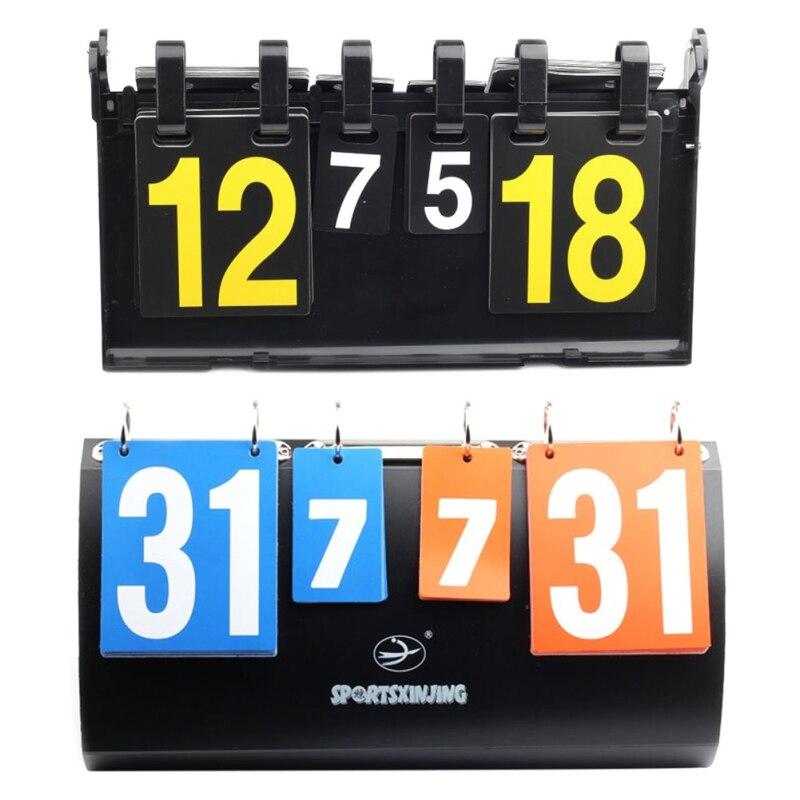 Dígitos para Placas de Vôlei do Futebol do Badminton do Tênis de Mesa Portátil da Competição dos Esportes de 4 Placar Mesa de