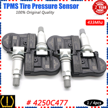 Xuan TPMS sensore di monitoraggio della pressione dei pneumatici 4250C477 per Mitsubishi ASX L200 Lancer Outlander Spacestar Peugeot ION Fiat Fullback