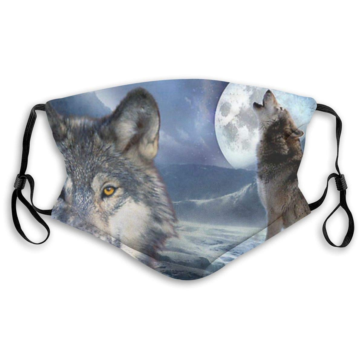 Howling Wolves Protective Mask With Gasket Disposable Water Repellent Multilayer Filter Adult Sunscreen Large Mask S