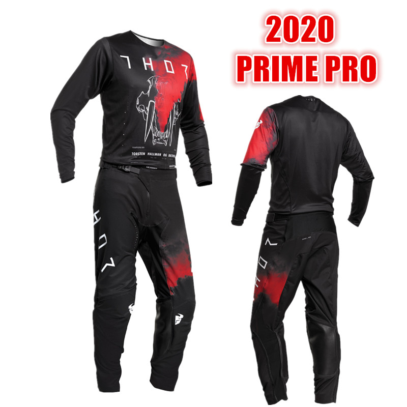 2020 PRIME PRO Moto Jersey And Pant With Inner Compression Short ATV BMX Motocross Jersey Set ATV Suit Motorcycle MX Gear Set