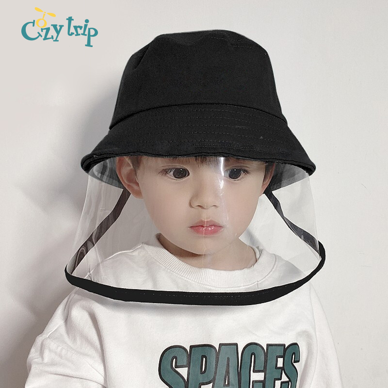 Child Anti Spitting Protection Sun Hats Anti-Droplet Summer Hat With Visor Isolation Hat Bucket For Kids Children