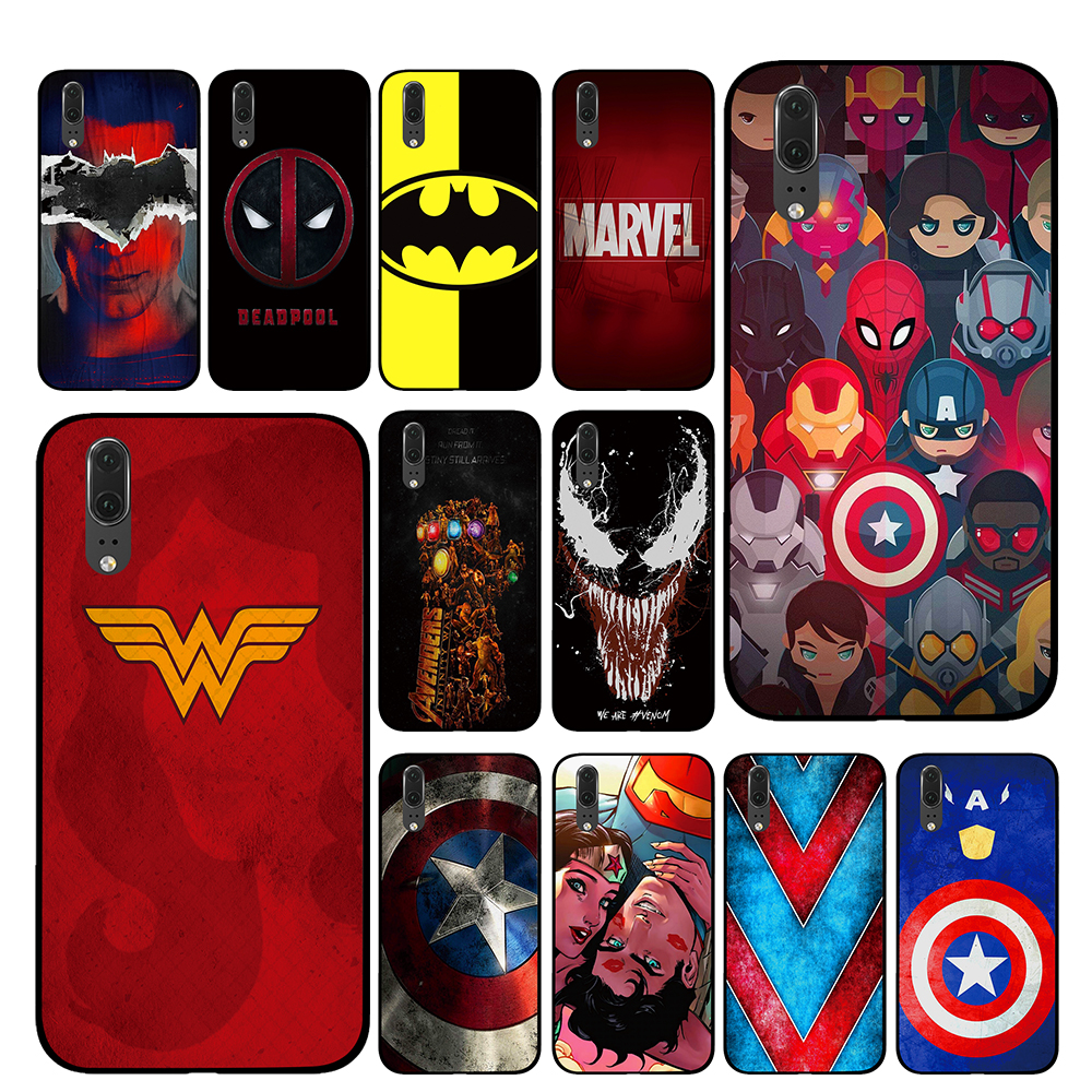 Classic Superhero for <font><b>Marvel</b></font> DC comic Black <font><b>Phone</b></font> <font><b>Case</b></font> for Huawei P30 P20 Mate 10 20 Pro Lite Nova 3 4 3i Cover image