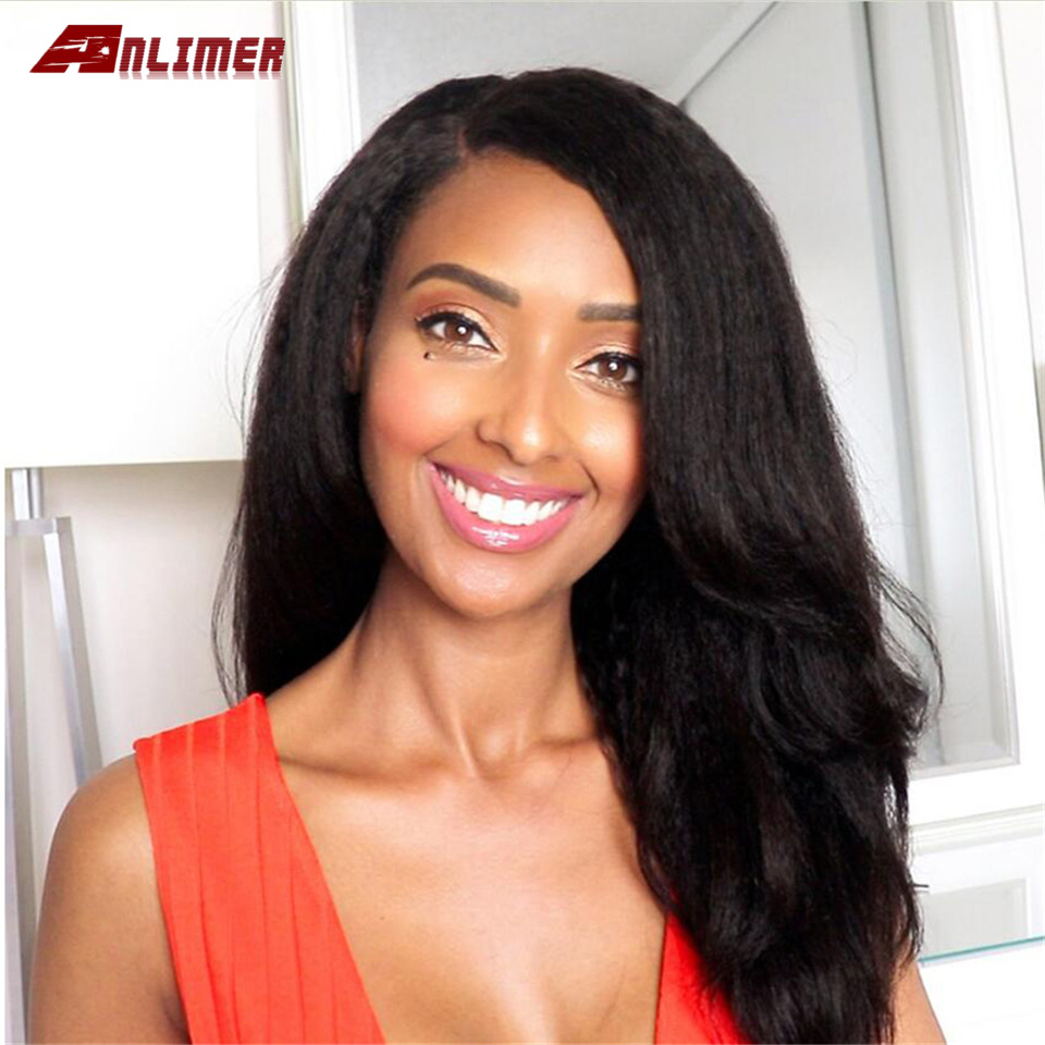 Yaki Straight Wig Lace Front Human Hair Wigs For Women Pre Plucked With Baby Hair Brazilian Remy Hair Bleached Knots