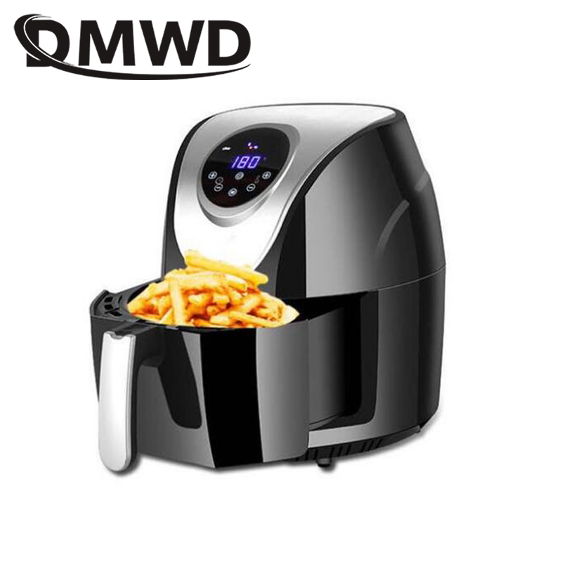 DMWD Electric Deep Fryer NO Oil Smokeless Frying Oven Pot 3.5L Potato Fried Chicken French Fries Machine Grill Cooker 110V 220V