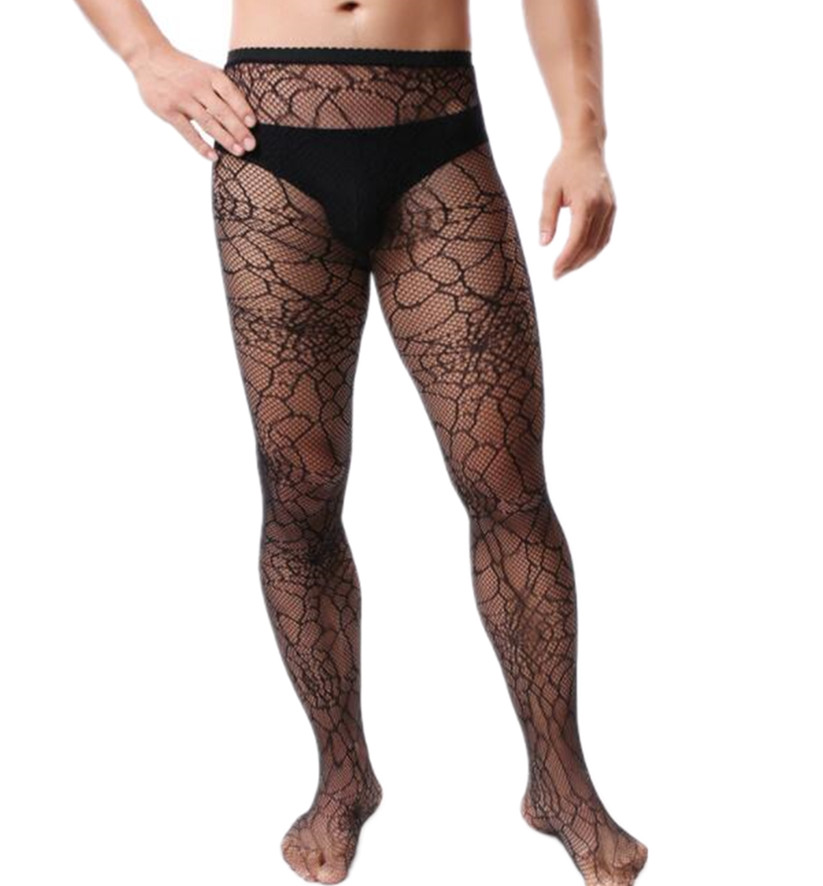 Shengrenmei Sexy Tights Male Fishnet Lingerie Mesh Spider Halloween Pantyhose Mens Gay Adult Pantyhose Fetish Man Exotic Apparel
