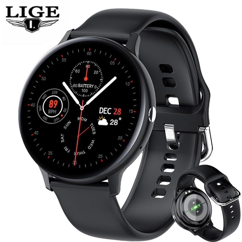 LIGE 2021 новый бизнес Смарт-часы Для мужчин воспроизведения музыки сердечного ритма вызовов через Bluetooth Водонепроницаемый спортивные Smartwatch дл...