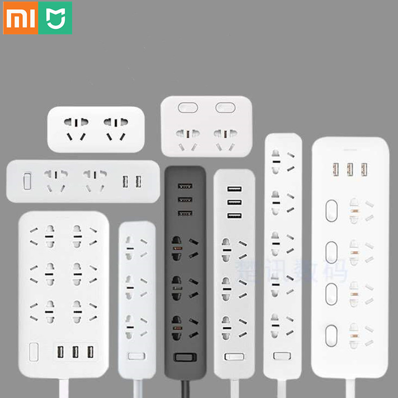 Xiaomi Mi Mijia силовая лента 2.1A Быстрая зарядка 3 USB удлинитель штепсельная вилка 6 розеток розетка адаптер US UK EU AU MI силовая полоса|Электрические розетки|   | АлиЭкспресс