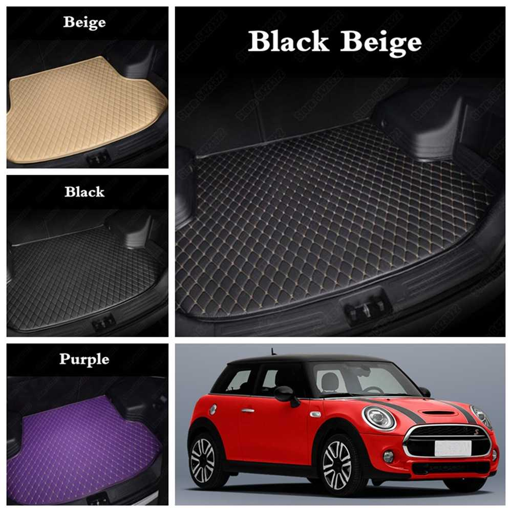 รถ Cargo สำหรับ MINI R50 R57 R58 F55 F56 R52 R53 R56 F57 R60 F60 ONE Cooper PLUS countryman CUSTOM Car BOOT Liners MAT