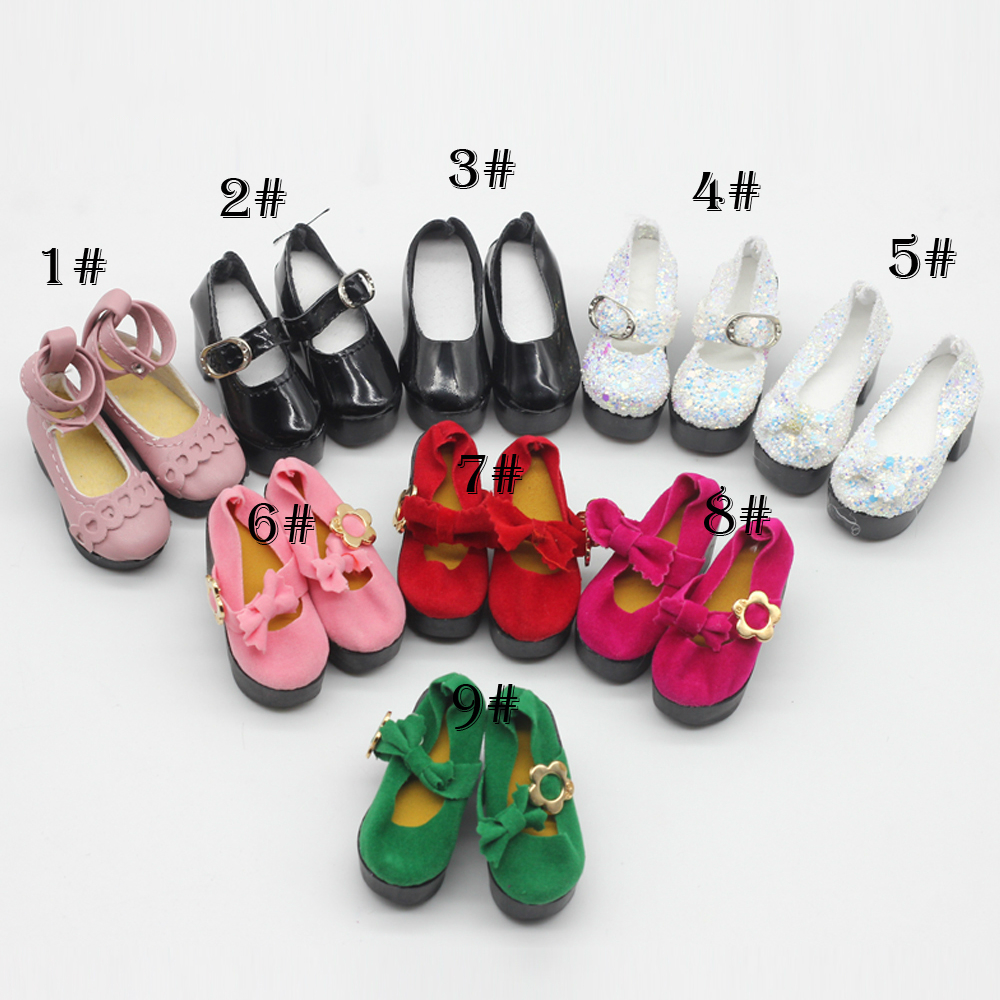 Newest Style 6.2*2.5CM 1/4 Bjd Shoes LOVELY Doll Shoes Msd SD BJD Shoes Doll Accessories Baby Doll Shoe Princess High Heels