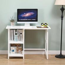 Simple Two Shelves Computer Desk Multi-purpose Workbench Laptop Desk Office Writing Table Save Space Desk Office Furniture HWC