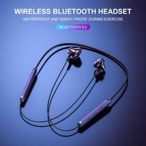 Bluetooth-наушники 5,0, беспроводные наушники с микрофоном, водонепроницаемые магнитные наушники с шейным ободом, стереогарнитура, спортивные наушники