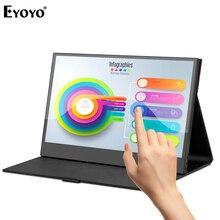 Eyoyo EM13L 13.3インチポータブルpcタイプusb cゲームタッチモニタ1920 × 1080のips hdmi用液晶画面ノートパソコンのディスプレイ任天堂