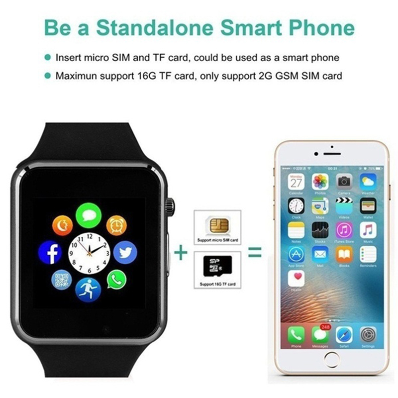2019 Smart Watch GT08 Plus Bluetooth Pair Metal Clock with Sim Card Slot Push Message For Android IOS Phone Smart watch PK S8