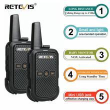 Buy 2pcs Retevis RT15 Mini Walkie Talkie Radio 2W UHF Radio Station Scrambler 400-470MHz VOX Two Way Radio Portable HF Transceiver directly from merchant!