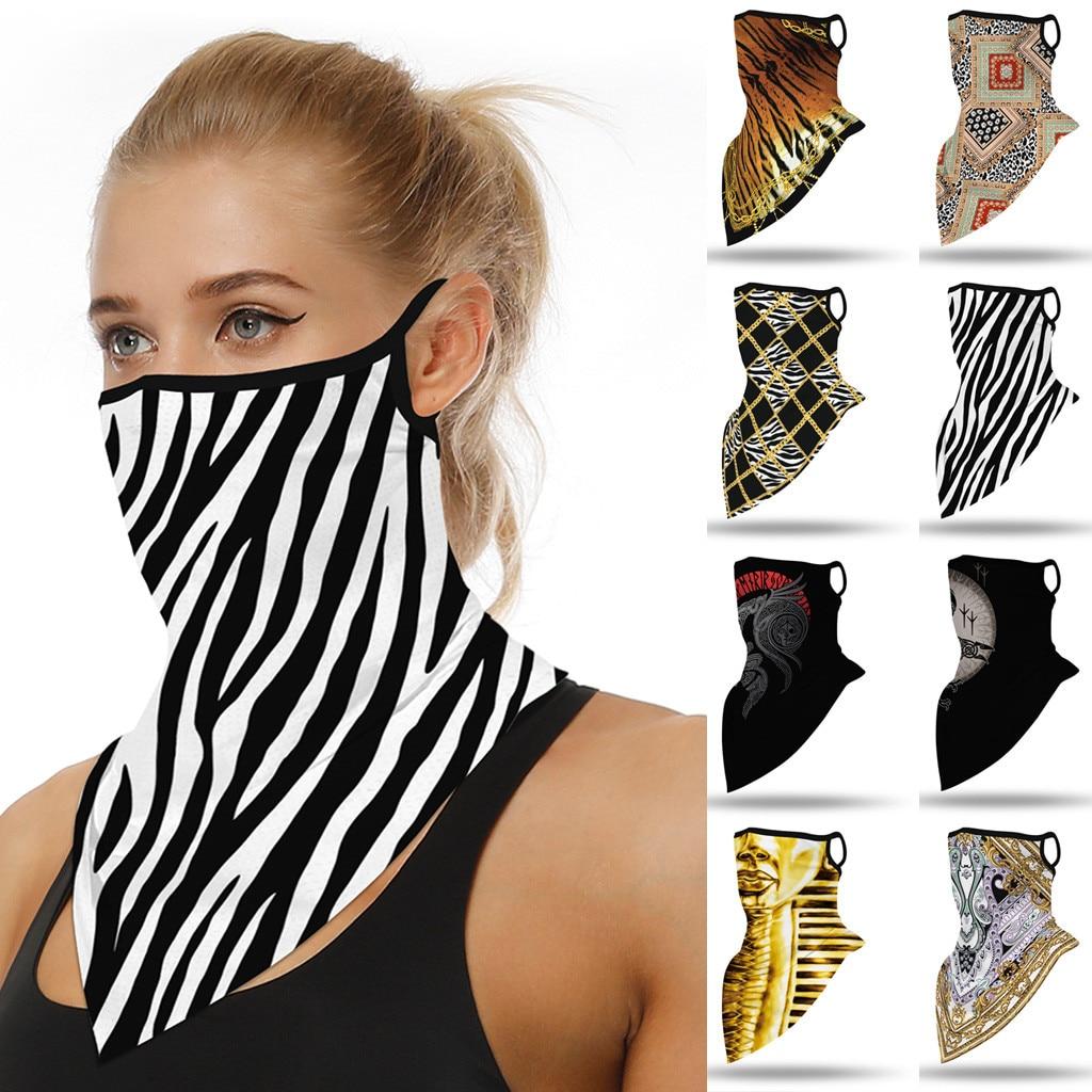 Impressão ao ar livre sem costura máscara de ouvido esportes cachecol pescoço tubo rosto poeira equitação máscara novo estilo adulto rímel tejida de novo estilo