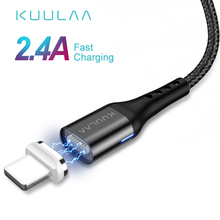 KUULAA Magnetic USB Cable For iPhone 11 Pro X XR SE 8 7 6 Plus Fast Charge USB Magnet Charger Cable Fast Charging Cable USB Cord