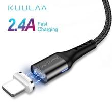 KUULAA Magnetische USB Kabel Für iPhone 11 Pro X XR SE 8 7 6 Plus Schnell Ladung USB Magnet Ladegerät kabel Schnelle Ladekabel USB Kabel