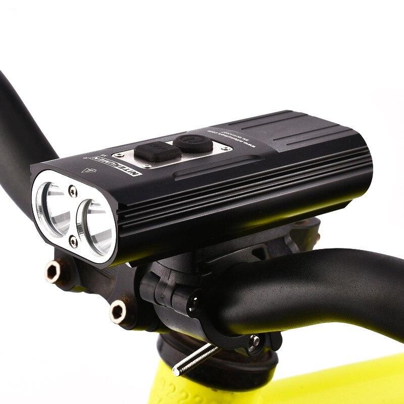 ABZB NITENUMEN 1800Lumens Bike Front Light Cycling Headlight Bicycle Rechargeable Flashlight Waterproof 6800mah Led Head Lamp Fo