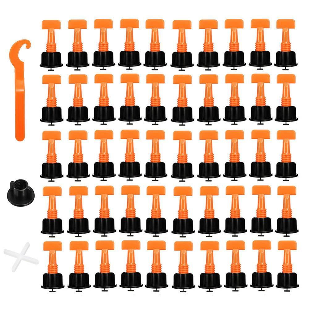 100PCS Tile Leveling System Tool Level Wedges Alignment Spacers For Leveler Locator Spacers Plier Flooring Wall Tile Carrelage