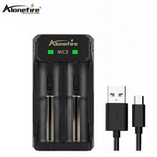 Alonefire MC2 chargeur de batterie universel chargeur intelligent pour Batteries rechargeables Li-ion 18650 21700 26650(China)
