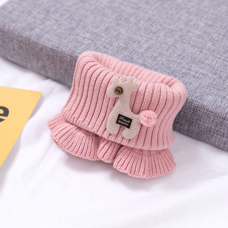 Шарф для маленьких мальчиков и девочек; зимний теплый шарф с рисунком лошади; плотные шарфы с воротником для новорожденных; шейный платок для малышей;