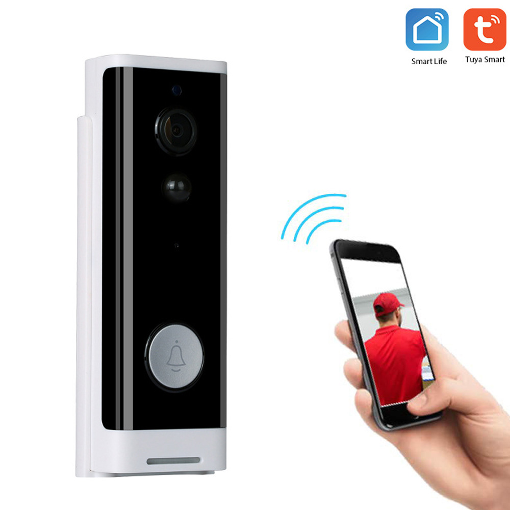 Tuya WIFI Smart Video Doorbell Home Monitor1080P Two Way AudioIR Alarm Wireless Security Camera For Smart Home