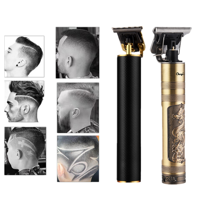 Hair-Clipper Shaver Trimmer 0mm Electric-Hair-Trimmer Barber Cordless T9 Rechargeable